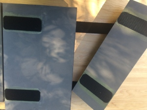 Adhesive velcro on foam pieces