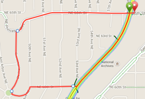 Map of 65th Street Hill Run