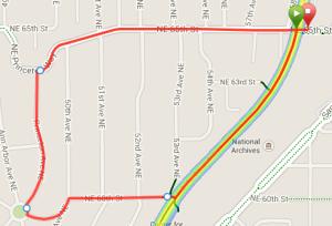 Map of 65th Street Hill Run