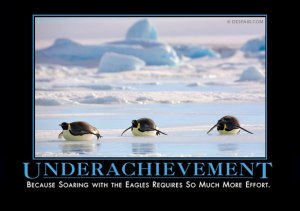 "Despair Inc Poster ""Underachievement: Because Soaring with the Eagles Requires So Much More Effort"""