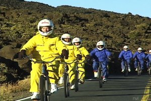 Bikers Going Down Haleakala
