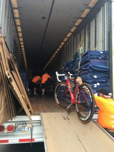 My Bike Being Loaded on Truck