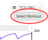 Select button in workout editor